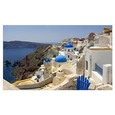 Church, Oia, Santorini, Cyclades Islands, Greece Poster