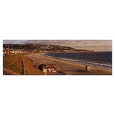 Coastline, Redondo Beach, Los Angeles County, Cali Poster