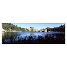 Trees around the lake, Sylvan Lake, Black Hills, C Poster