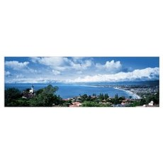 City at the coast, Palos Verdes Peninsula, Palos V Canvas Art