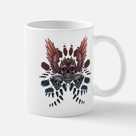 Mechanical Skull + Wings Mug
