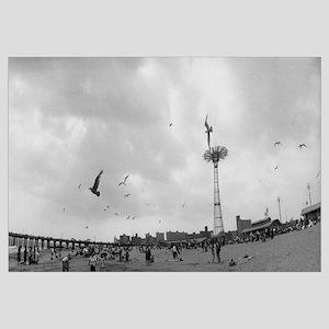 Tourists on the beach, Coney Island, Brooklyn, New
