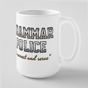 Grammar Police - Correct 15 oz Ceramic Large Mug