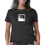 climbingicongirlWhite_CPDa Women's Classic T-Shirt