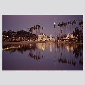 Reflection of trees in water, Santa Barbara, Calif
