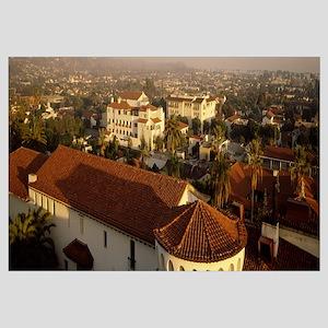 Aerial view of a cityscape, Santa Barbara, Califor