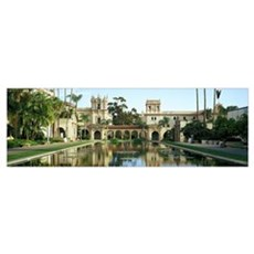 Reflecting pool in front of a building Balboa Park Canvas Art