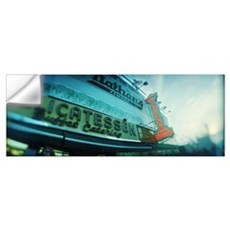 Commercial signs of a restaurant Nathans Coney Isl Wall Decal