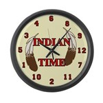 Indian Time Large Wall Clock