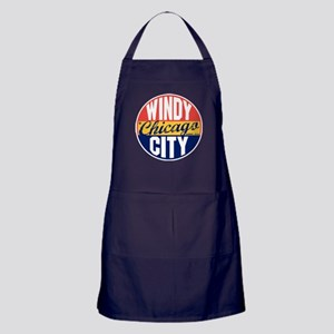 Chicago Vintage Label Apron (dark)