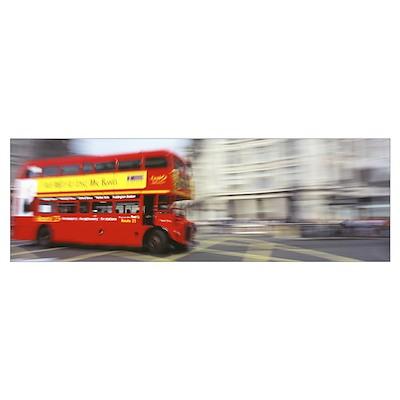 Double Decker Bus London England Poster