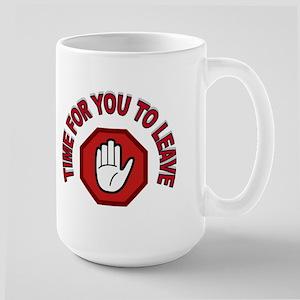 HANDS OFF Large Mug