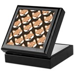 Shiba Inu Faces Keepsake Box