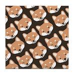 Shiba Inu Faces Tile Coaster