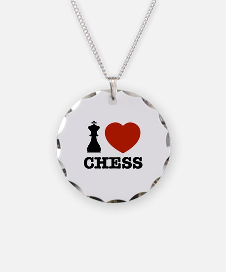 I love Chess Necklace