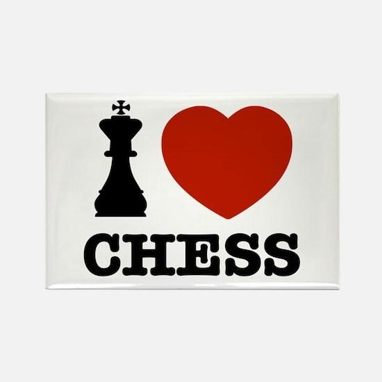 I love Chess Rectangle Magnet