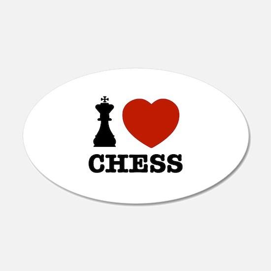 I love Chess 22x14 Oval Wall Peel