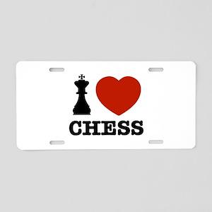 I love Chess Aluminum License Plate