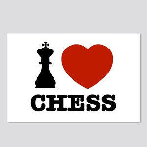I love Chess Postcards (Package of 8)