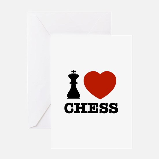 I love Chess Greeting Card
