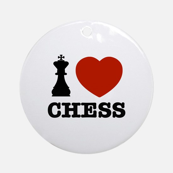 I love Chess Ornament (Round)