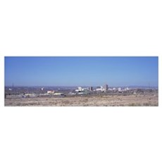 Panoramic view of buildings and roads, Albuquerque Poster
