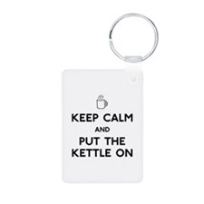 Keep Calm Aluminum Photo Keychain