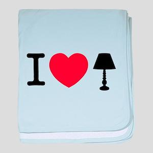 I Love Lamp baby blanket