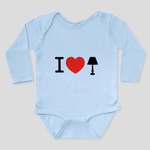 I Love Lamp Long Sleeve Infant Bodysuit