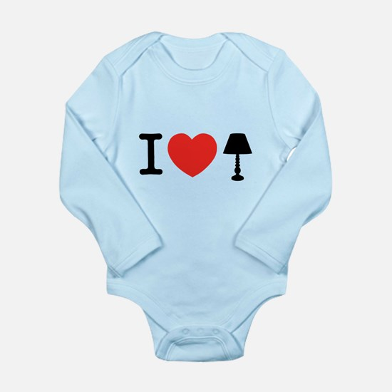 I Love Lamp Long Sleeve Infant Bodysuit