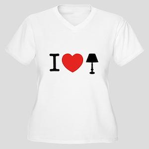 I Love Lamp Women's Plus Size V-Neck T-Shirt