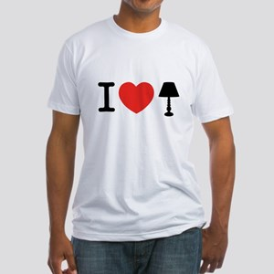 I Love Lamp Fitted T-Shirt