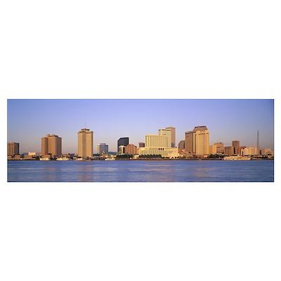 Sunrise Skyline New Orleans LA Poster