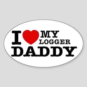 I love my Logger Daddy Sticker (Oval)