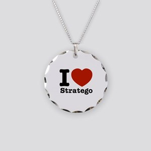 I love Stratego Necklace Circle Charm