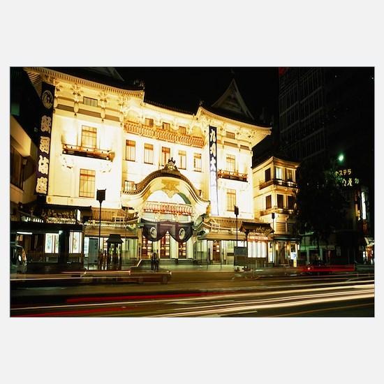 Evening Kabuki Theater Ginza Area Tokyo Japan