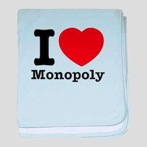 I love Monopoly baby blanket