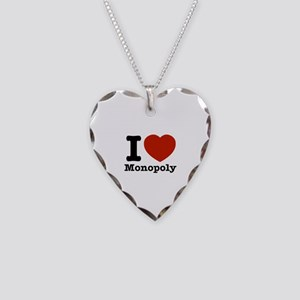 I love Monopoly Necklace Heart Charm