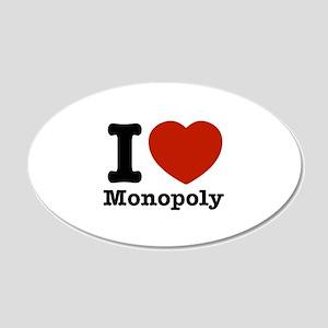 I love Monopoly 22x14 Oval Wall Peel