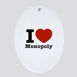 I love Monopoly Ornament (Oval)