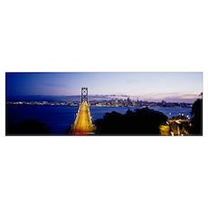 Oakland Bay Bridge CA Poster