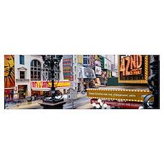 Road running through a market, 42nd Street, Manhat Poster