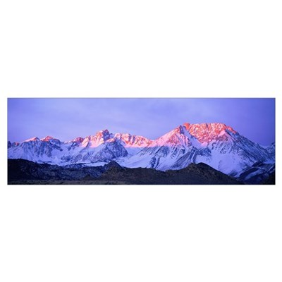 Sunset Glow on Sierra Nevada Mountains California Framed Print