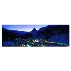 Matterhorn and Zermatt Switzerland Poster