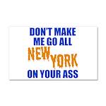 New York Baseball Car Magnet 20 x 12