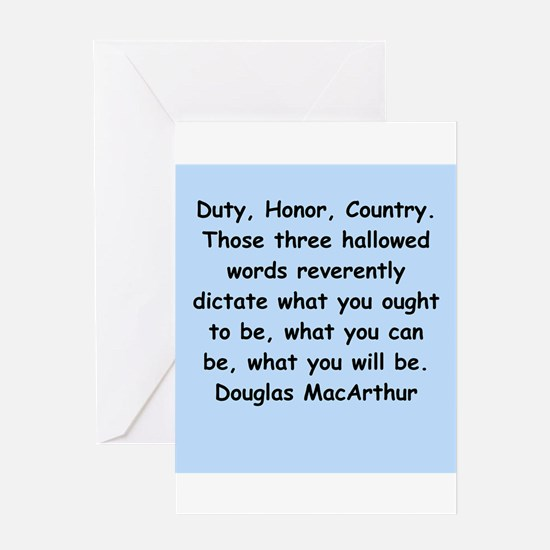 douglas macarthur Greeting Card