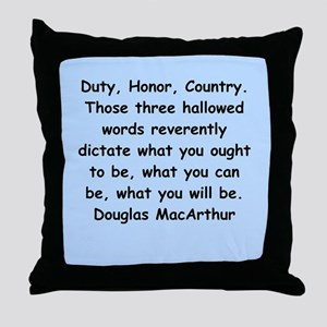 douglas macarthur Throw Pillow