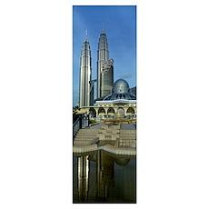 Mosque and Petronas Towers Kuala Lumpur Malaysia Poster
