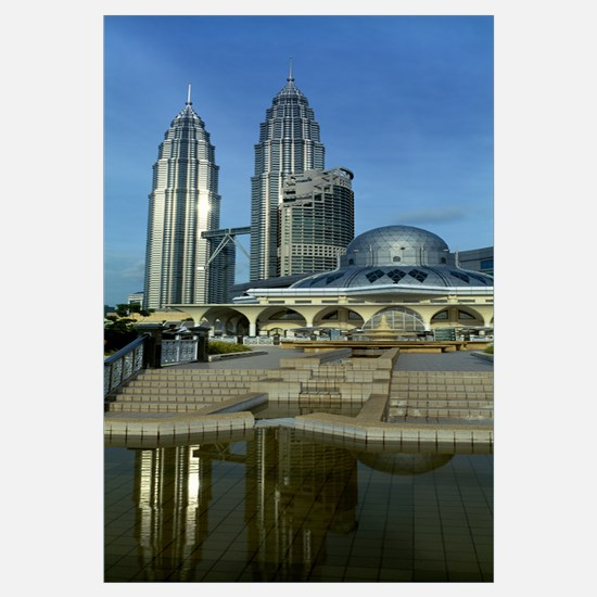 Mosque and Petronas Towers Kuala Lumpur Malaysia