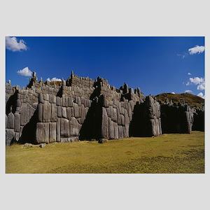 Ruins of a fortress, Sacsayhuaman, Cuzco, Peru